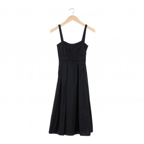 Zara Black Babydoll Sleeveless Midi Dress