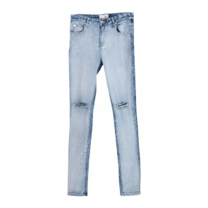 (X)SML Blue Washed Rip Skinny Pants