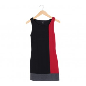 Forever 21 Multi Colour Colorblock Sleeveless Mini Dress