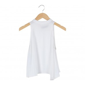 Zara White Halter Neck Sleeveless
