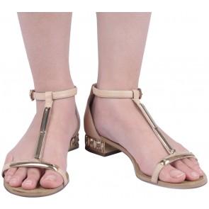 Carolinna Espinosa Cream T Strap Heels
