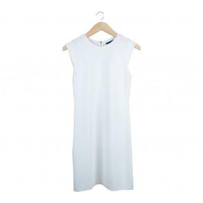 Mango Off White Mini Dress