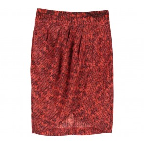 Forever 21 Red Leaf Skirt