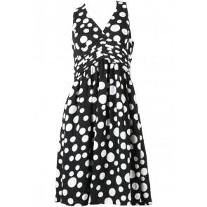 bYSI Black And White Polka Dot Midi Dress