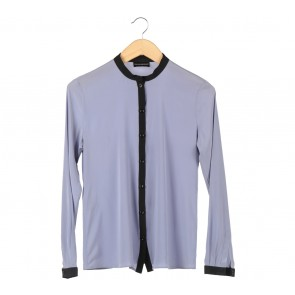 Emporio Armani Black And Blue Blouse