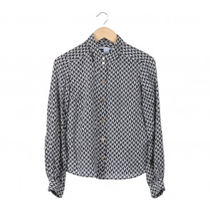 Diane Von Furstenberg Black And Off White Shirt