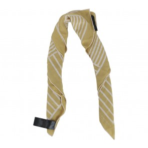 Burberry Yellow And White Striped Scarf