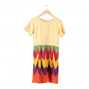 Multi Colour Midi Dress