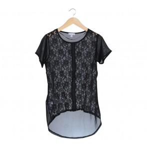 Cotton On Black Lace Combi Blouse