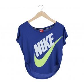 Nike Blue Printed T-Shirt