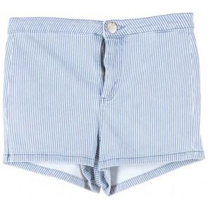 Topshop Blue Striped Jeans Short Pants
