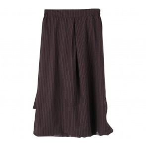 Pofeleve Brown And Black Striped Cullote Pants