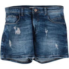 Bershka Dark Blue Ripped Jeans Pants