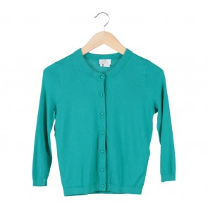 Kate Spade Green Ribbon Back Cardigan
