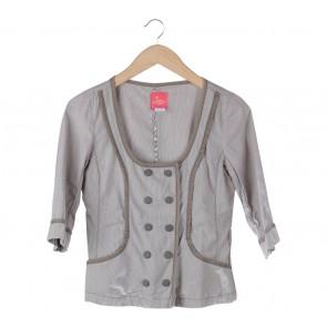 Grey Striped Blouse