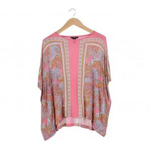 H&M Pink Paisley Boxy T-Shirt