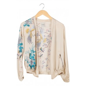 Cream Birds Jacket