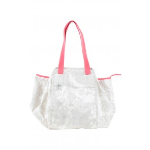 Kipling White Floral Shopper Bag