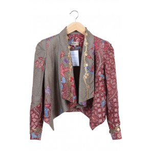 Multi Beaded Batik Blazer
