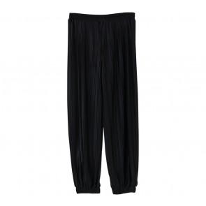 Dot Dtails Black Pleated Pants