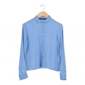 Zara Blue Polka Dot Shirt