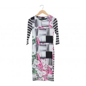 Topshop Multi Colour Midi Dress