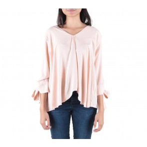Schon Couture Peach Bowed Blouse
