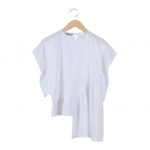 Namirah The Label White Asymmetric Blouse