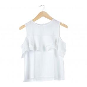 Cotton Ink White Off Shoulder Blouse