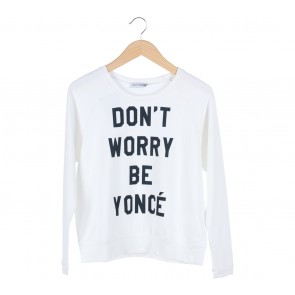 Cotton Ink White Printed Sweater