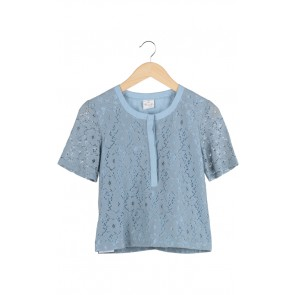 Blue Powder Lace Top
