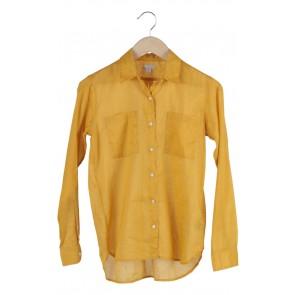 Yellow Mustard Plain Dress Shirt
