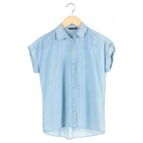 Blue Denim Short Sleeve Top