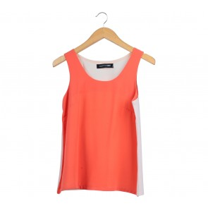Cotton Ink Orange And Pink Sleeveless