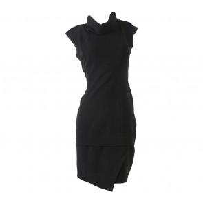 Accent Black Sleeveless Mini Dress