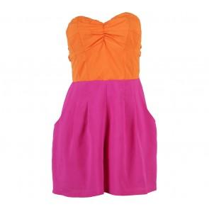 Bardot Purple And Orange Tube Jumpsuit