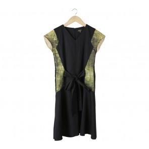 Black And Green Midi Dress