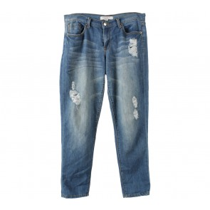 Forever 21 Blue Ripped Pants