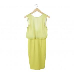 H&M Green Sleeveless Combi Midi Dress