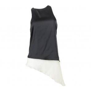 Maryalle Black And Cream Asymmetric Sleeveless