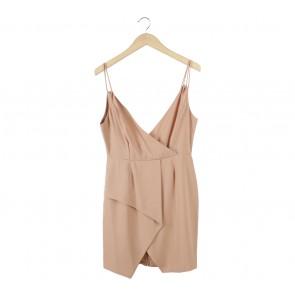 Status Quo Light Brown Sleeveless Mini Dress