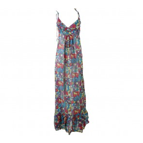 Topshop Multi Colour Floral Sleeveless Long Dress