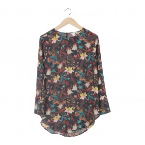 H&M Black Floral Blouse