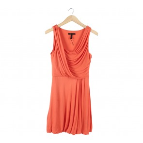 BCBG Maxazria Orange Sleeveless Mini Dress