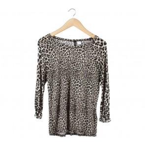 Divided Brown Leopard T-Shirt