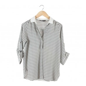 Dorothy Perkins Off White And Black Striped Shirt