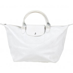Longchamp White Monogram Handbag