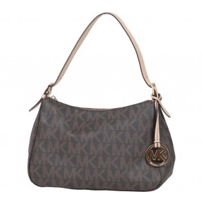 Michael Kors Brown Monogram Shoulder Bag