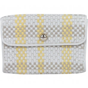 Kate Spade Cream And Yellow Braided Clutch