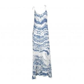 Mango Blue And White Long Dress